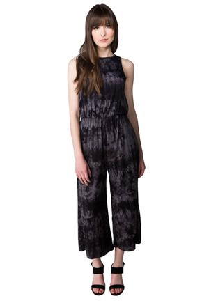Tie Dye Jumpsuit with Crossover Back