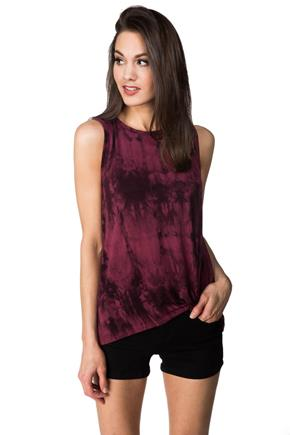 Tie Dye Tank with Knotted Hem