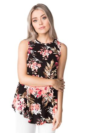 Sleeveless Floral Tunic