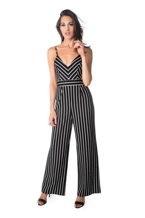 Striped Spaghetti Strap Jumpsuit