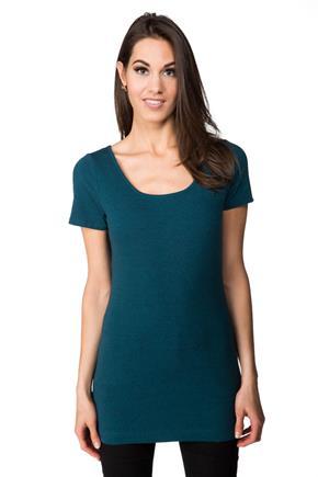 T-shirt avec manches courtes et col rond à longueur tunique 1ce138780f1