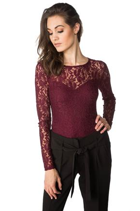Lace Bodysuit with long Sleeves