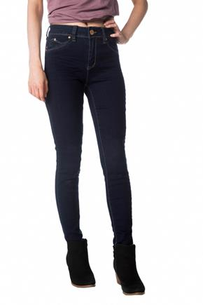 YMI Wannabettabutt Dark Wash Mid-Rise Jegging with Embroidered Back Pockets