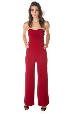 Strapless Jumpsuit with Knotted Bust