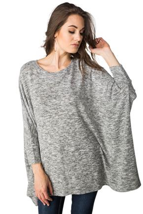 SuperSoft 3/4 Sleeve Poncho