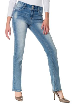 WallFlower Light Wash Mid-Rise Luscious Curvy Bootcut Jean
