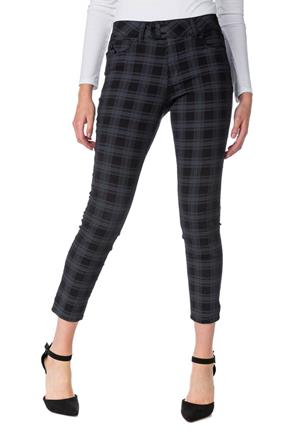 YMI Plaid Mid-Rise Skinny Anklet Pant