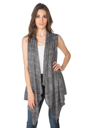 Glen Plaid Vest with Pockets