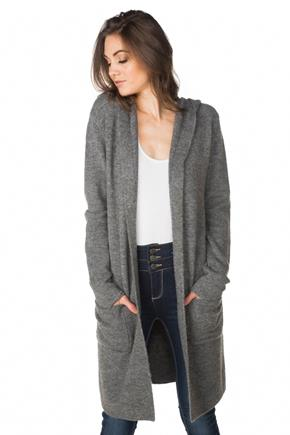 Hooded Cardigan with Front Pockets