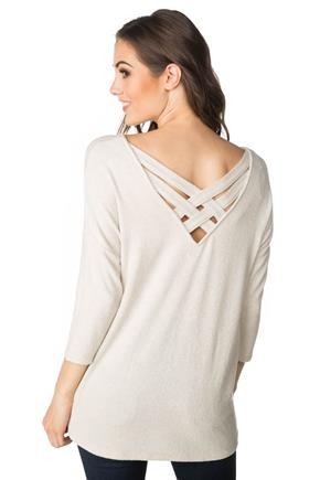 SuperSoft Sweater with Criss Cross Back