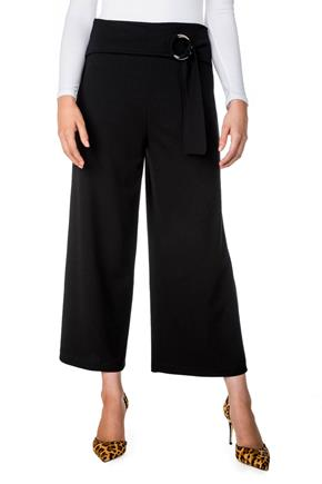 Cropped Pant with O-ring Half-belt