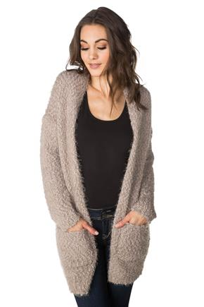 Soft Knit Long Open Cardigan