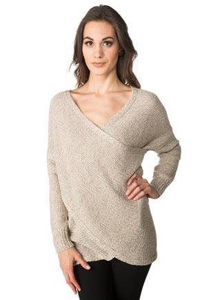 Crossover Wrap Sweater