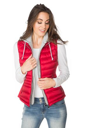 YMI Quilted Vest with Fooler Hood