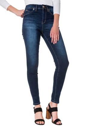 YMI Wannabettabutt Dark Wash High-Rise Jegging with Embroidered Back Pockets