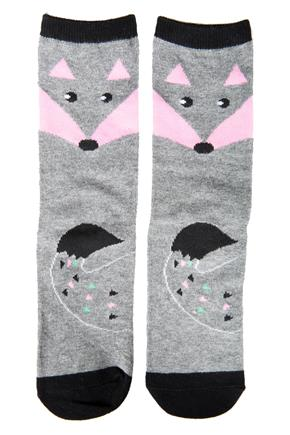 Fox Socks with Contrasting Toe and Heel