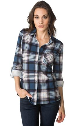 Plaid Sherpa-Lined Shirt