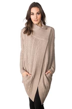Long Sleeve Wrap Coatigan