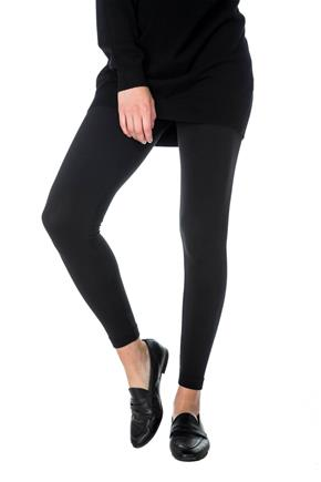 Faux Fur Lined Legging with Ribbed Waistband