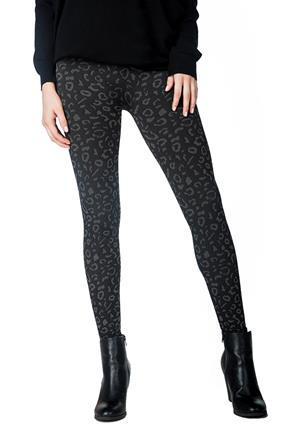 Animal Pattern Fleece Lined Legging