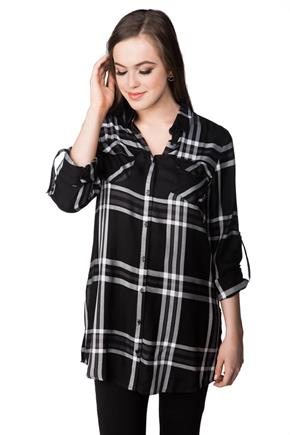 Mason Plaid Shirt with Roll-up Sleeves