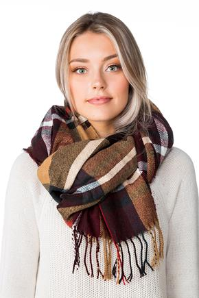 Fall Colours Plaid Oblong Scarf
