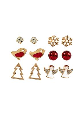 Set of Six Holiday Earrings