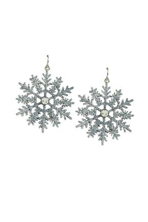 Glittery Snowflake Earrings
