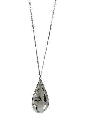 Large Teardrop Pendant Necklace
