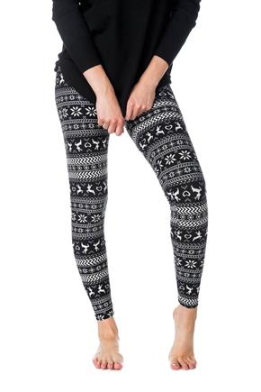 Reindeer and Snowflake Print Legging