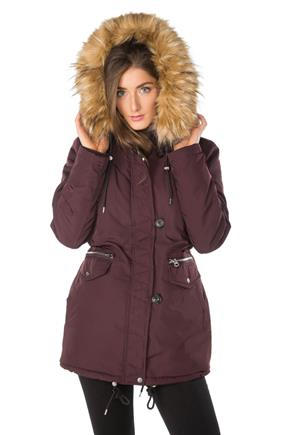 Parka with Faux Fur Trim and Lining e1733c2b8440