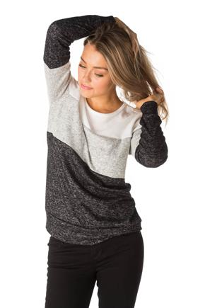 Brushed Colour-Blocked Sweater