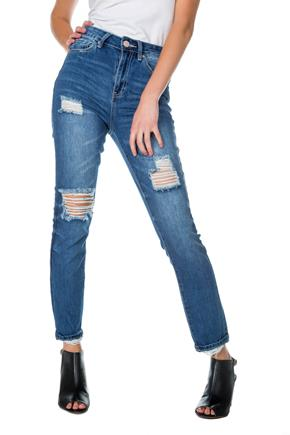 "YMI ""Dream Jean"" Medium Wash High Rise Skinny Jean"