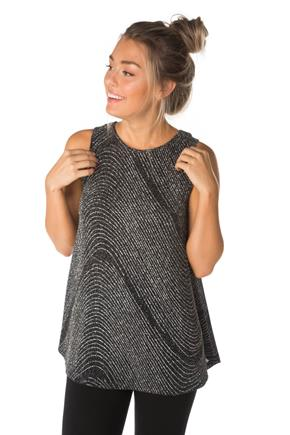 Glitter Knit Sleeveless Tunic