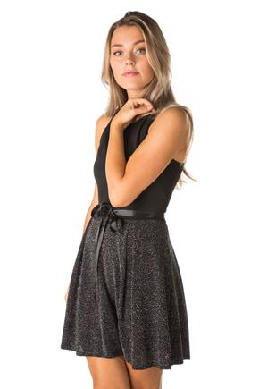 Sleeveless Skater Dress with Glitter Skirt