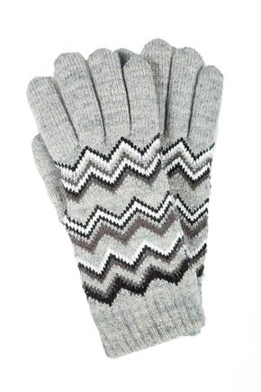 Chevron Pattern Chenille lined Gloves