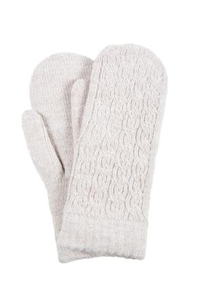Cable Knit Chenille Lined Mittens