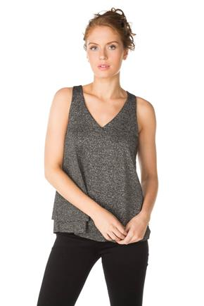 Sleeveless V-Neck Double Layer Top