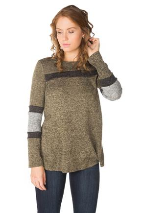 Colour-Blocked Brushed Sweater