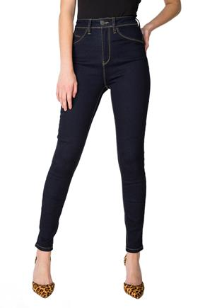 YMI Rinse Wash Luxe Super-High-Rise Skinny Jean