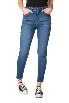 "YMI ""Hide Your Muffin Top"" Mid-Wash High-Rise Skinny Jean"