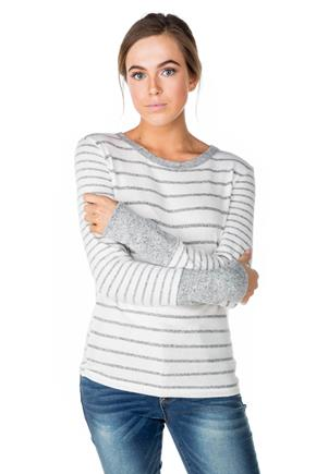Supersoft Stripe Long Sleeve Crewneck Top