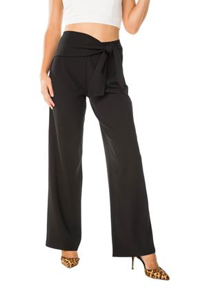 Wide Leg Pant with Tie-Sash