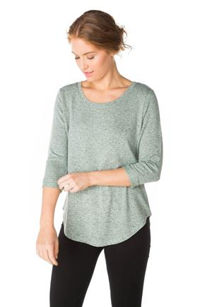 Scoopneck Sweater with 3/4 Sleeves
