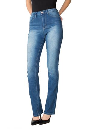 "YMI ""Hide Your Muffin Top"" Mid-Wash High-Rise Bootcut Jean"