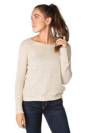 Open Knit Long Sleeve Sweater