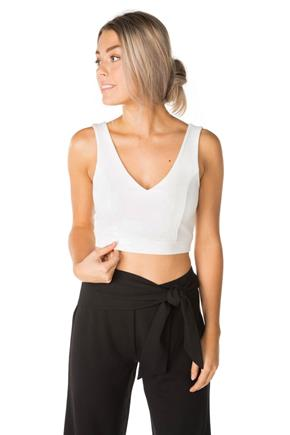 Crop Top with Tie-Back