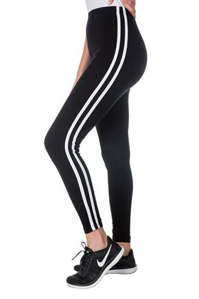 Legging à double rayures