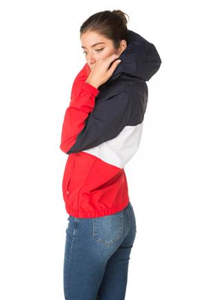 Colour-Block Hooded Windbreaker