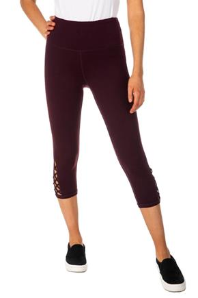 Athletic High Waisted Cropped Legging with Criss Cross Detail